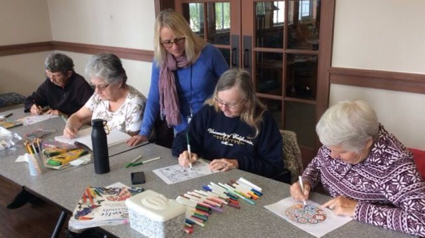The Adult Coloring class is held the first and third Saturdays monthly at the Del Mar Library from 10 a.m. till 12 p.m.