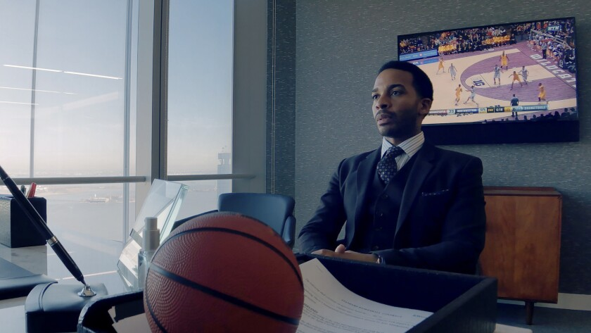 """André Holland in the movie """"High Flying Bird."""""""