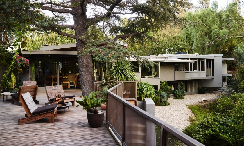 Rudolph Schindler-designed home in Studio City