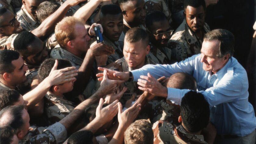 President Bush and U.S. Soldiers in Saudi Arabia