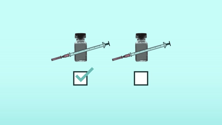 What can employers do if workers avoid COVID-19 vaccines? (AP Illustration/Peter Hamlin)