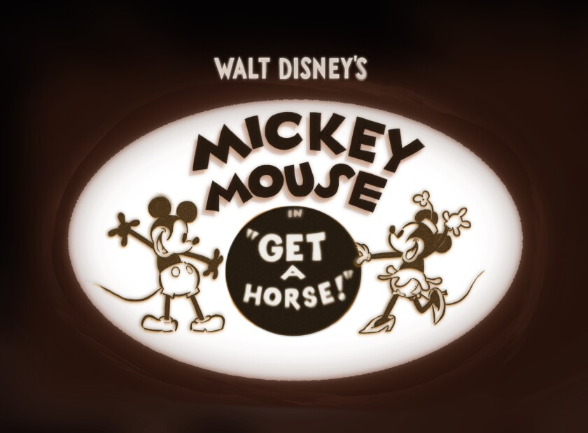 """The Mickey Mouse short film """"Get a Horse"""""""