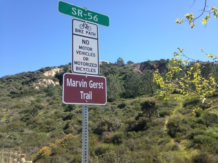 Six new signs were placed on the CVREP trail in Carmel Valley to mark Marvin Gerst Trail.