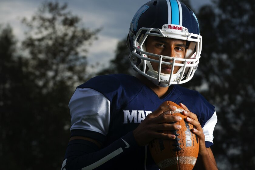 Maranatha's Christian Cortes threw for 2,198 yards and 23 TDs last season as the Eagles compiled a 7-3 record.