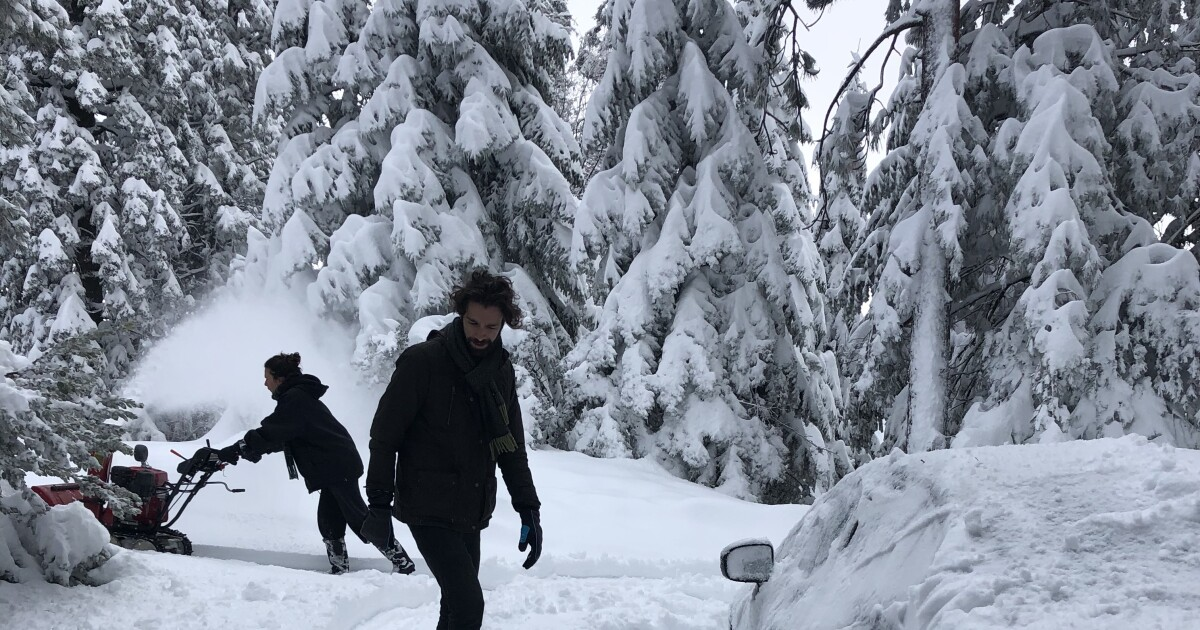 Snow blanketed Southern California mountain and high desert communities. And more weather is coming Tuesday