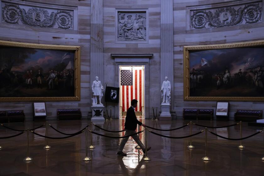 Empty U.S. Capitol