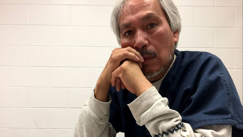 Emilio Gutierrez Soto, 54, fled Mexico for the United States in 2008 after he says soldiers upset with an article he wrote ransacked his home. His asylum request was denied in late 2017 and he has been detained in El Paso since then.