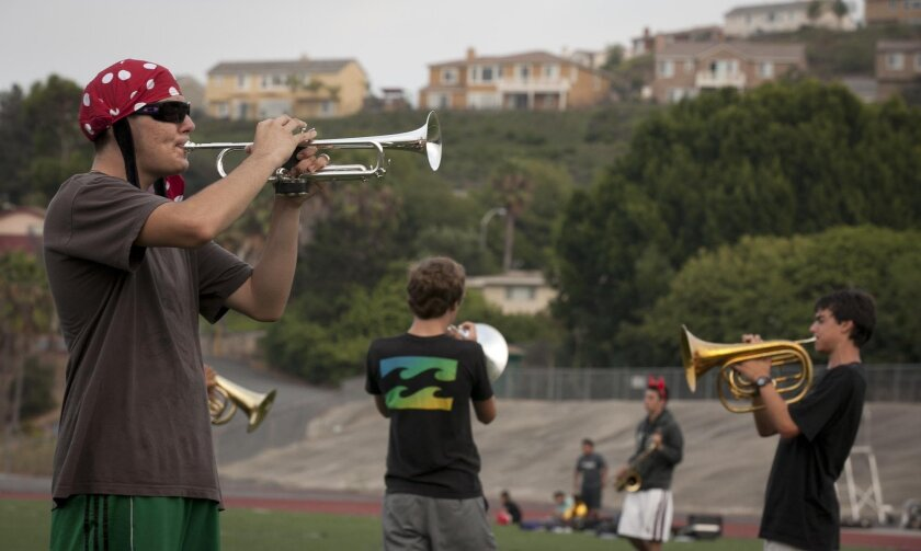The Helix Highlanders are trying to make less use of a metronome to keep time during practices.