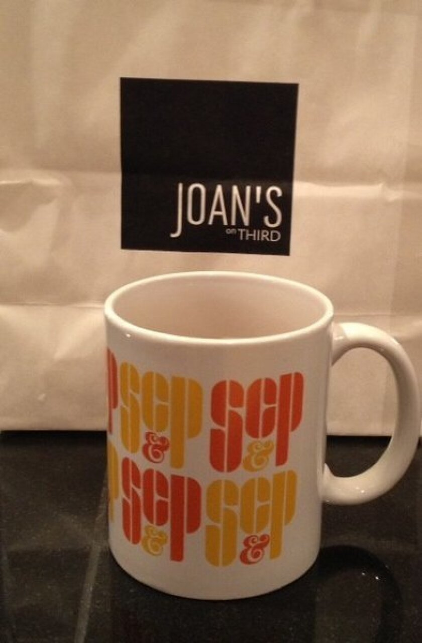 """Mad Men"" Sterling, Cooper & Partners mug at Joan's on Third"