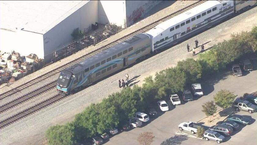 One person is dead after being hit by a Metrolink train.
