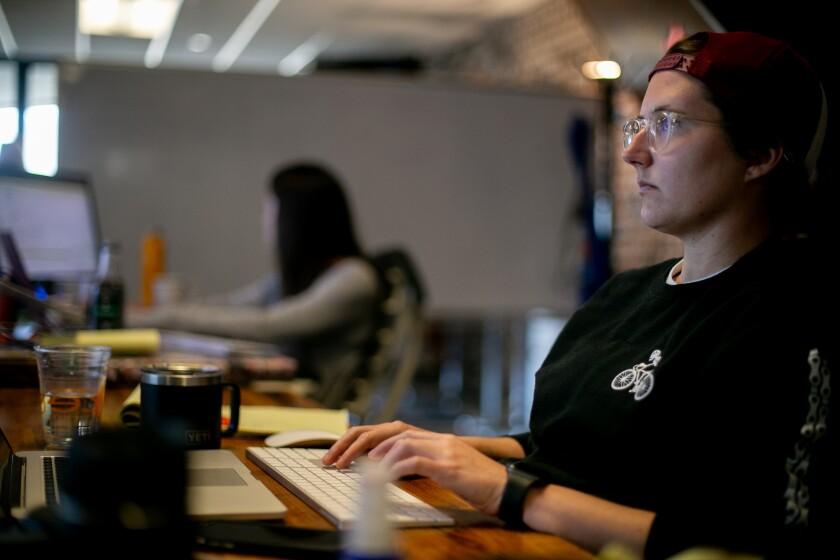 Data engineer Caitlin Johnson works at Zeeto, an internet marketing company in San Diego, California.