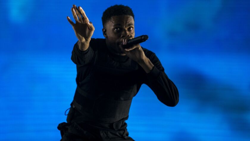 INDIO, CALIF. - APRIL 13: Rapper Vince Staples performs at the Coachella Stage during Day 1 of the C