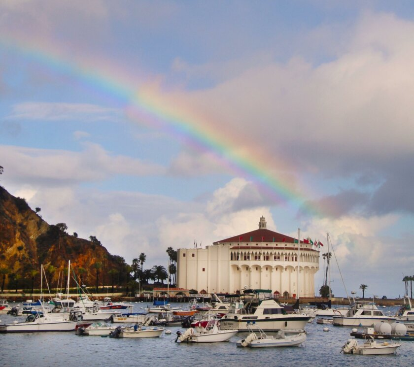 The historic Avalon Casino on Catalina Island. In the off-season, the island is quiet. Gone are the crowds that flock to this famous destination during the peak summer months.