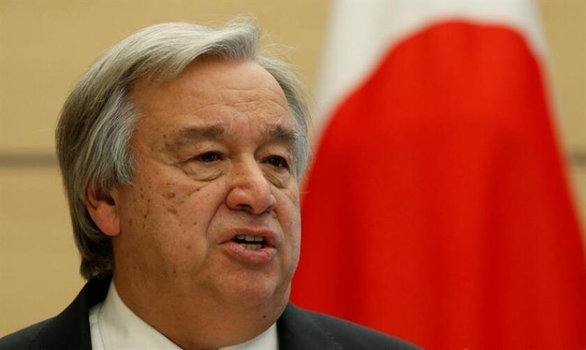 El secretario general de Naciones Unidas, António Guterres, se ofreció hoy a mediar en una negociación internacional con Corea del Norte para tratar de poner fin a la actual crisis. EFE/POOL