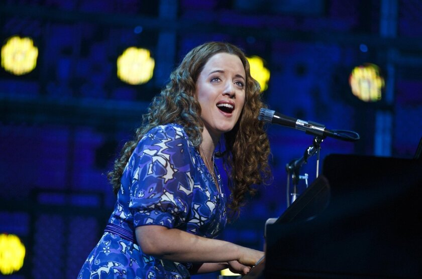 """Abby Mueller as Carole King in the touring production of """"Beautiful."""""""