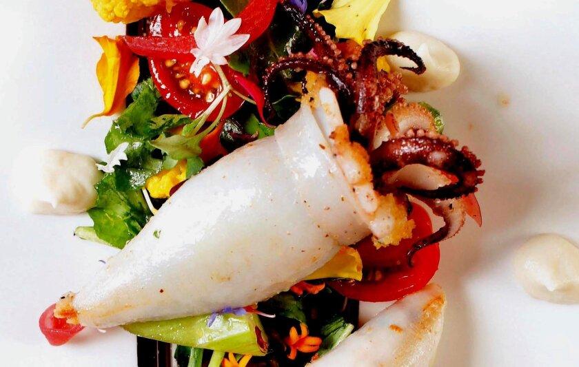 Calamari Ripieni by Accursio Lota, executive chef at Solare.