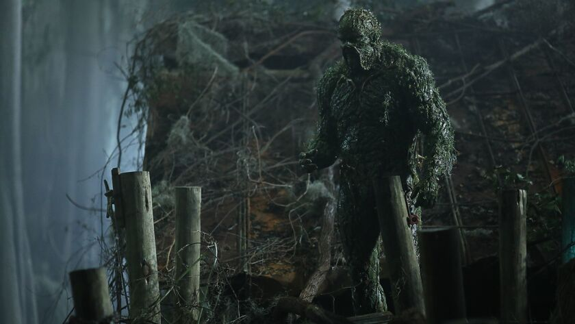 "The streaming series ""Swamp Thing"" will be running on U.S. TV for the first time this fall on the CW."