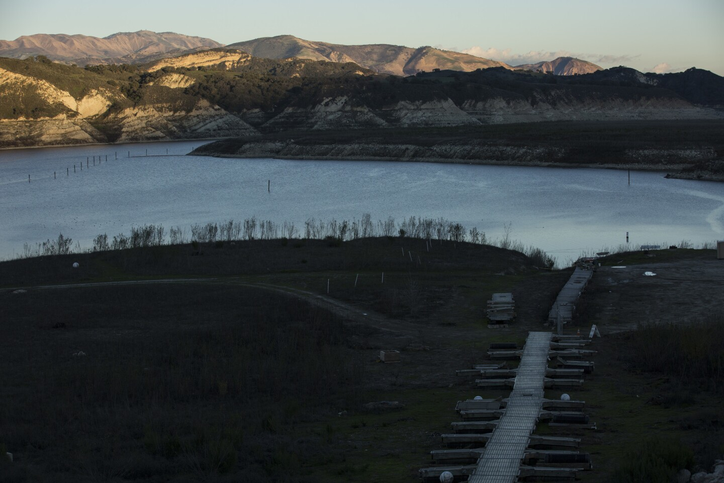 Lake Cachuma is currently at 13% of its historical average and 9% of its capacity, the lowest by far of any reservoir in California.