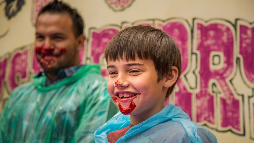 The Boysenberry Festival at Knott's Berry Farm will include pie-eating contests.