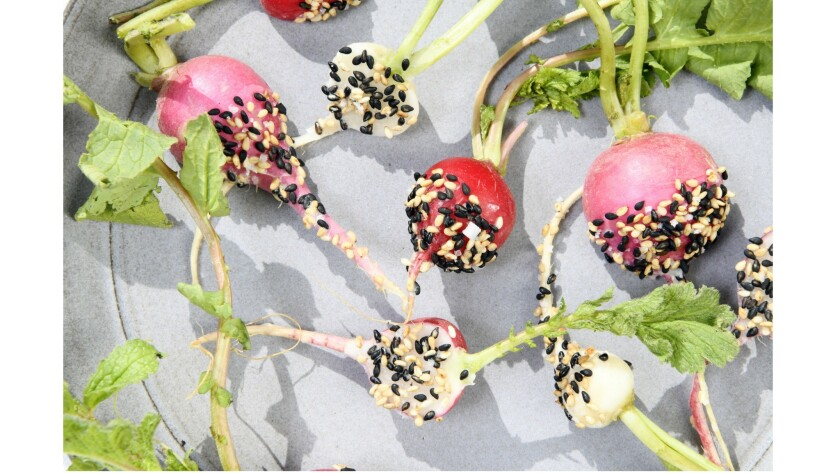 Radishes with sesame salt