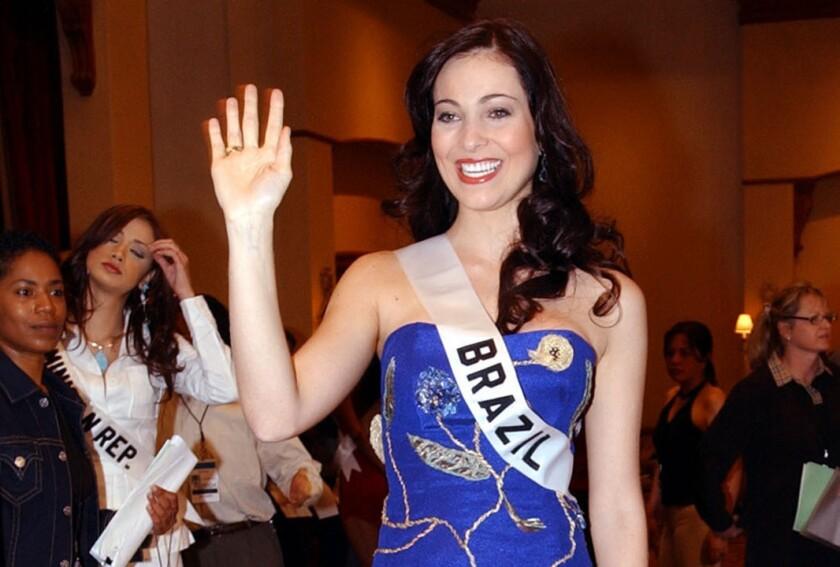 Miss Brazil 2004 Fabiane Niclott. (AP Photo/Dolores Ochoa, File)