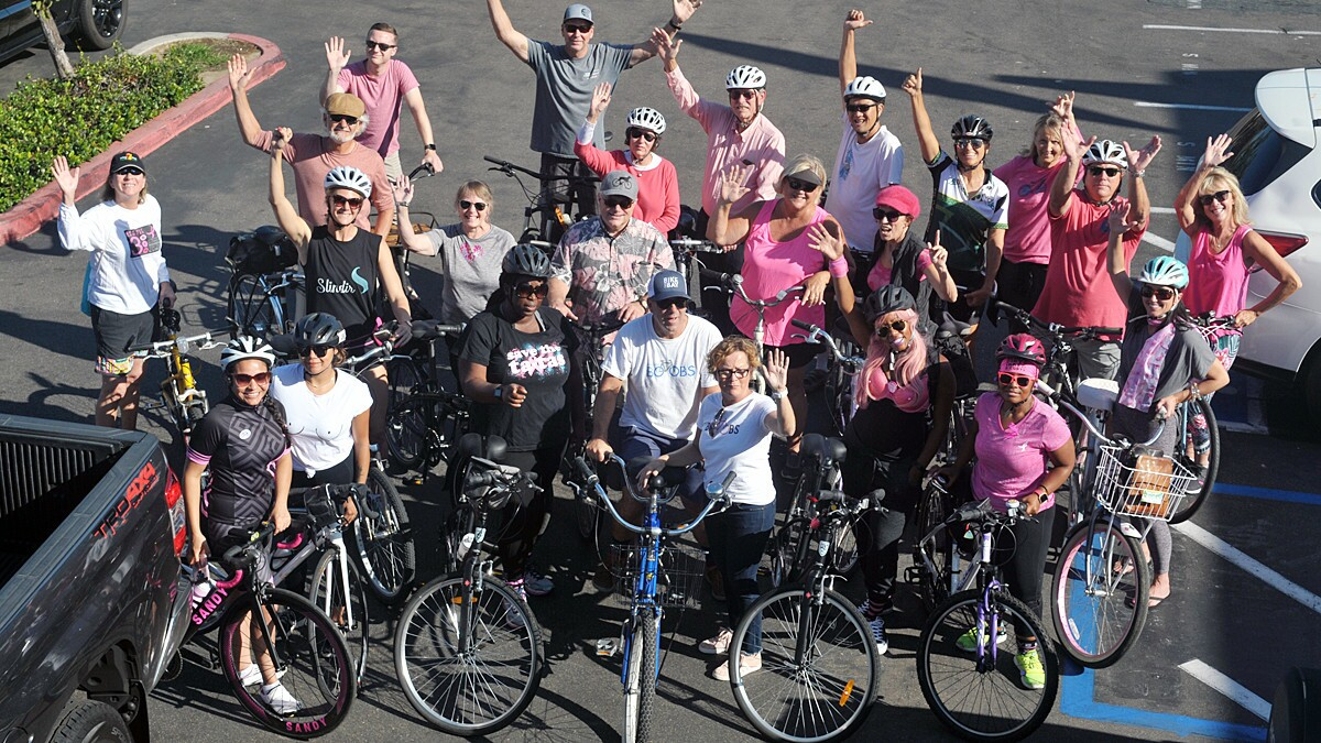 During the sixth annual Bike for Boobs, on Oct. 14, 2018, participants rode on a 20-mile road course or leisurely pedal around Shelter Island to raise funds to help fight breast cancer.