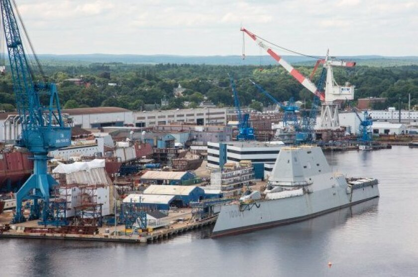 The 610-foot Zumwalt-class destroyer is the first electric-powered warship in the Navy's history.