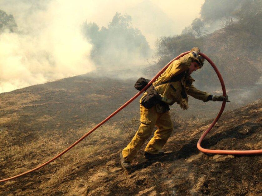 Mandatory evacuations ordered in Monrovia as brush fire grows