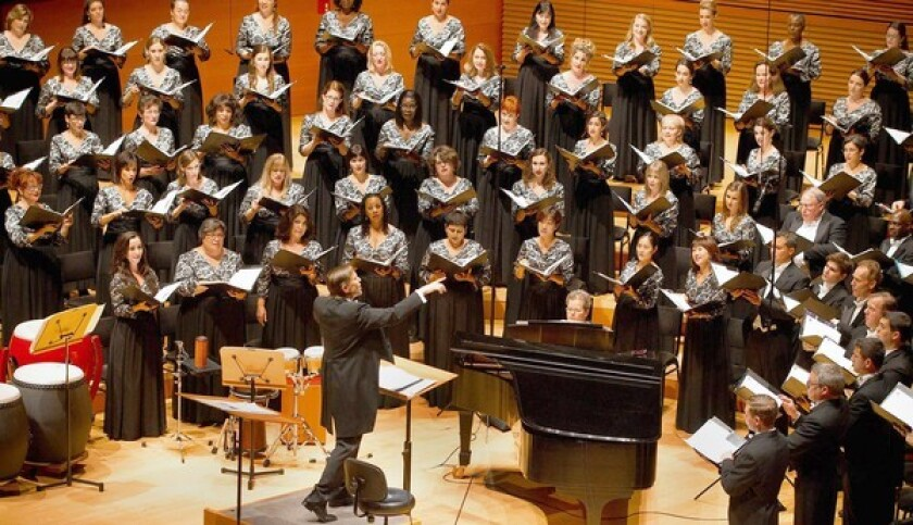 Members of the Los Angeles Master Chorale will perform Handel's Messiah on Saturday at Walt Disney Concert Hall.