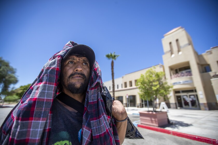 Osmani Ramirez, 41, who has been homeless for four years