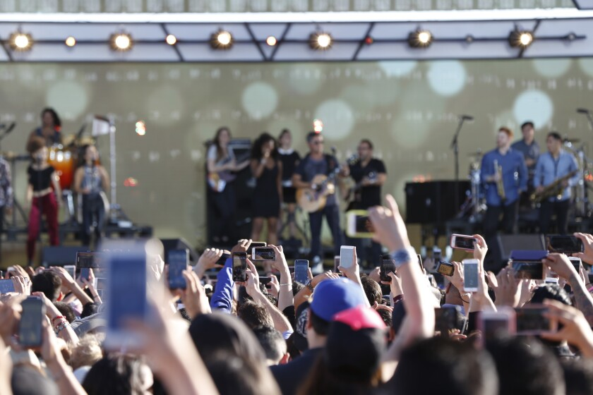 San Diego California USA, October 15th  2016:  Riseup as One was a bi-lingual live music event at the Cross Border Xpress.  The concert was presented by Univision Communications and the Fusion Media Group.