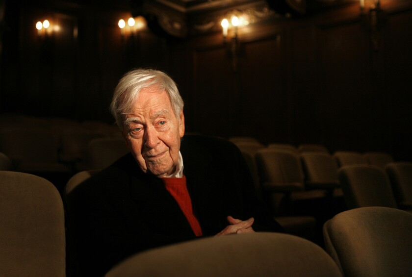 """Horton Foote at the Booth Theater in New York, where his play """"Dividing the Estate"""" was presented."""