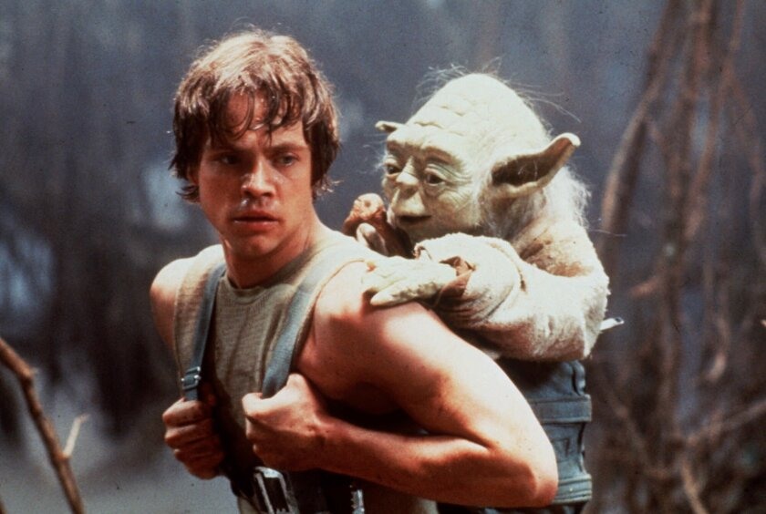 """Luke Skywalker (Mark Hamill) furthers his Jedi training with Yoda in """"Star Wars: The Empire Strikes Back."""""""