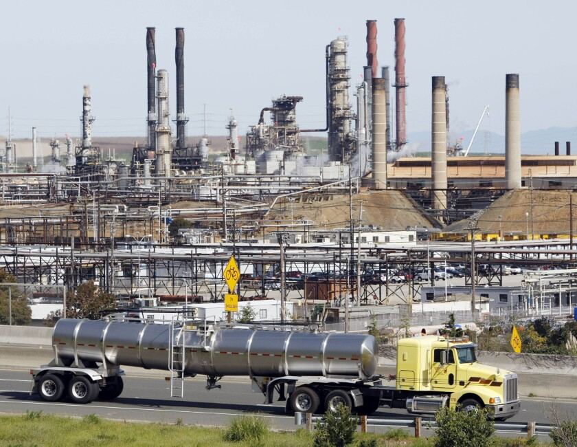 Chevron's Richmond, Calif., refinery, is shown in a 2010 photograph.