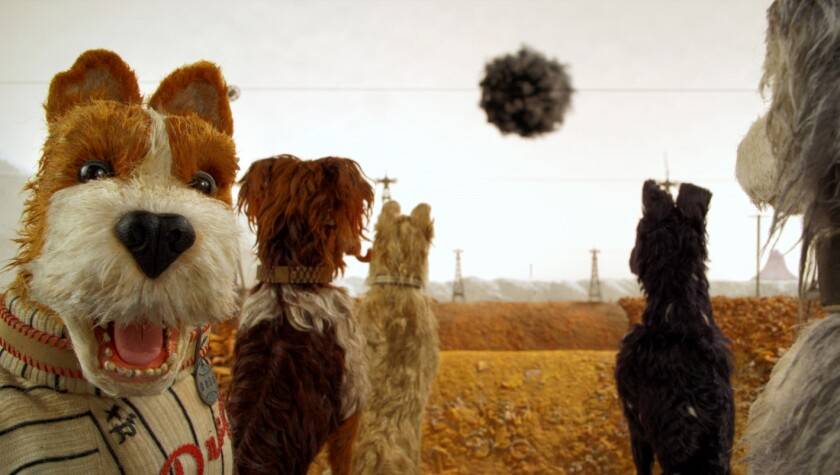 """Boss, left, voiced by Bill Murray, in """"Isle of Dogs."""""""