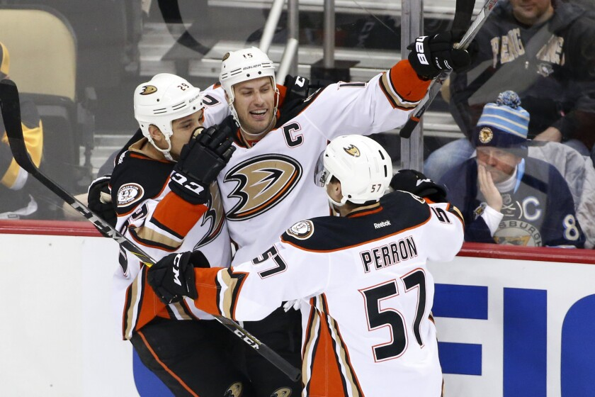 Ryan Getzlaf has seven goals with 39 assists and leads the Ducks with 46 points.