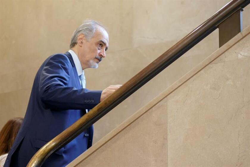 El embajador sirio ante la ONU, Bashar Yafari. EFE/Archivo