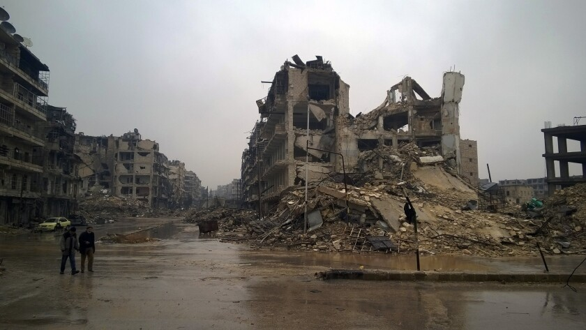 Destructions in Aleppo, Syria