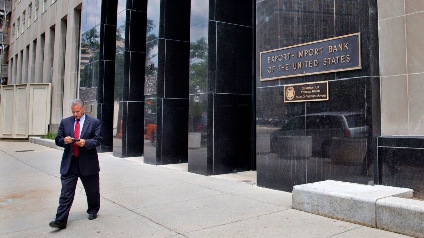 A man walks away from the U.S. Export-Import Bank in Washington in 2015.