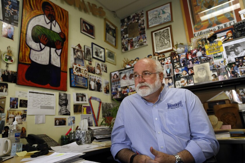 Father Greg Boyle, executive director and founder of Homeboy Industries, has retracted his support for a proposed Los Angeles ballot measure that would limit so-called mega-projects across the city.