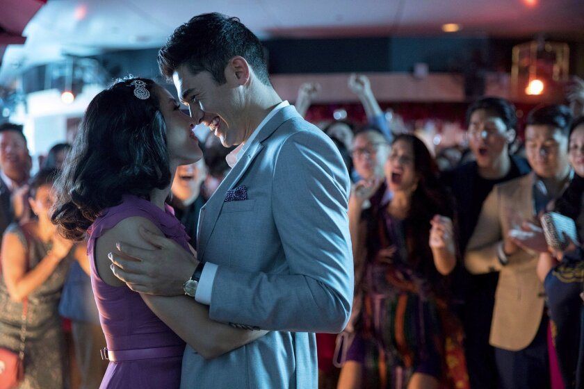 """Constance Wu as Rachel and Henry Golding as Nick in """"Crazy Rich Asians."""""""