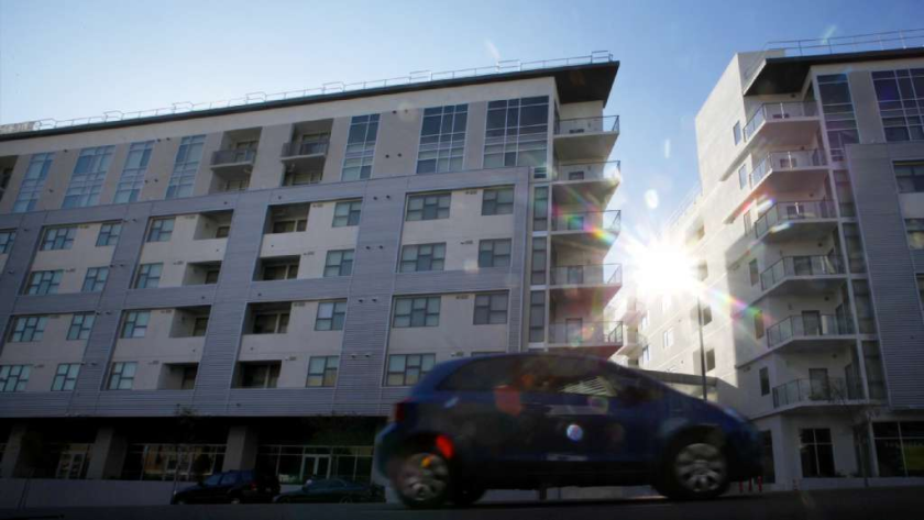 Rents in Hollywood have climbed in the last 12 months. Above, the Avenue apartment complex in Hollywood.