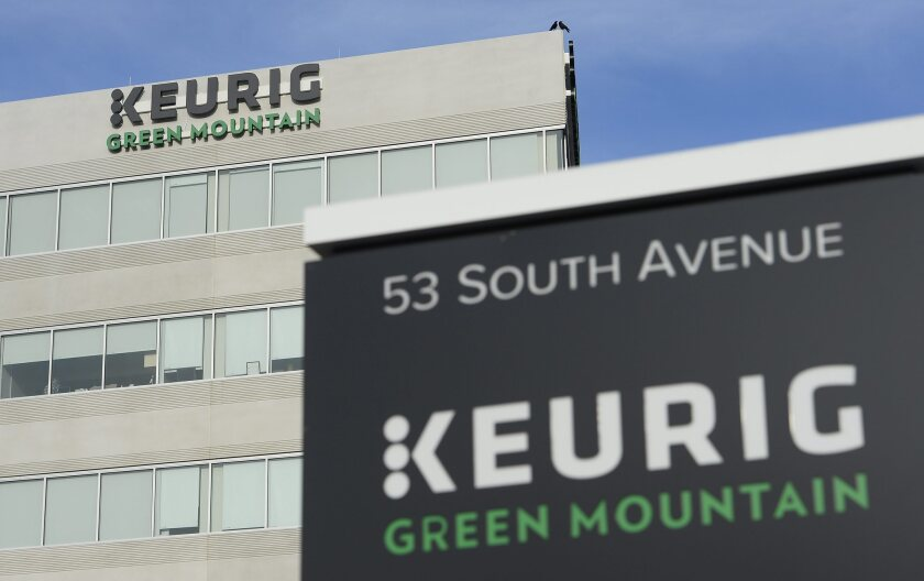 The Keurig Green Mountain offices in Burlington, Mass.