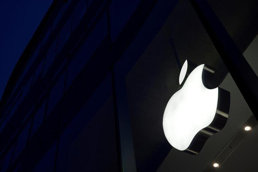 The logo of Californian technology company Apple. EFE/EPA/FILE