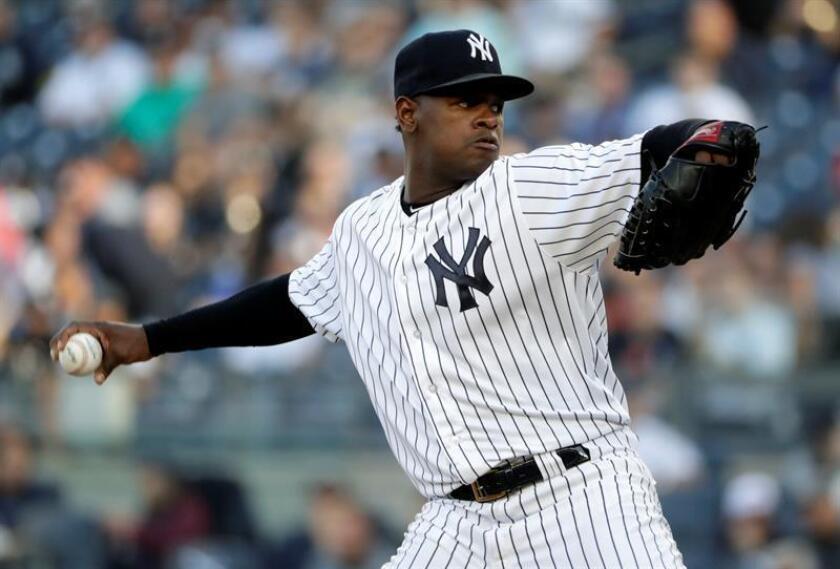 El lanzador de los Yankees de Nueva York Luis Severino. EFE/Archivo