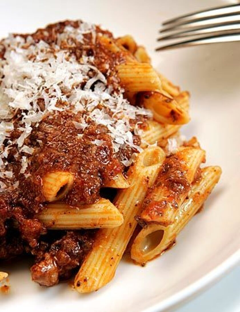 Four kinds of pork add rich flavor to this ragu.