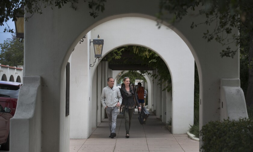 Picturesque spots in Ojai, Calif., include the pedestrian arcade along Ojai Avenue. Though small, the Ventura County town is home to a range of activities, including olive oil tasting, stays at posh Ojai Valley Inn & Spa and the yearly Ojai Music Festival.