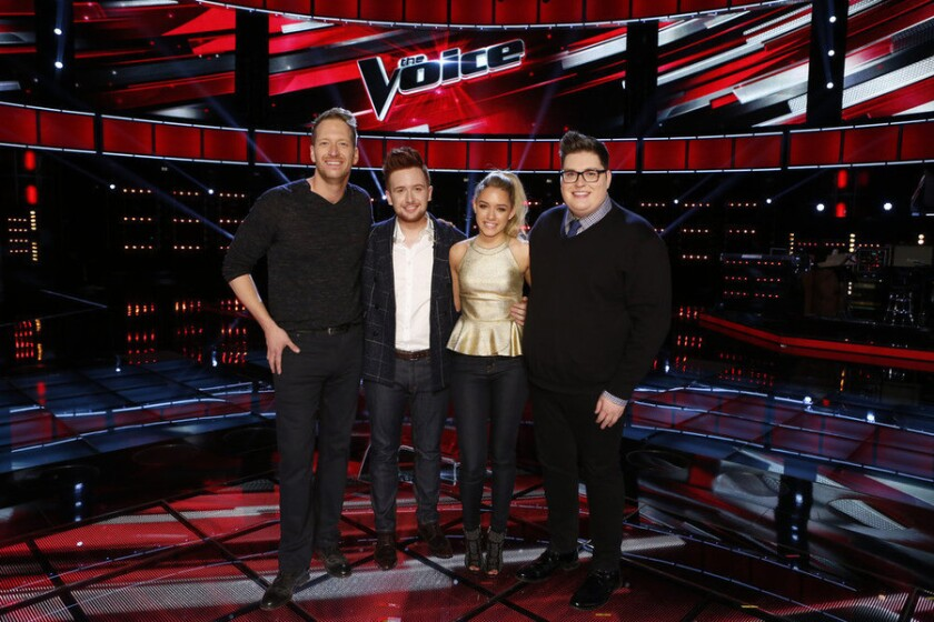 Barrett Baber, Jeffery Austin, Emily Ann Roberts and  Jordan Smith are headed to 'The Voice' Season 9 finals.