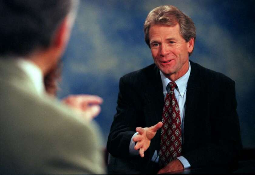 Peter Navarro is seen in a television interview in 2001, the year China joined the WTO and brought a new focus to his work.