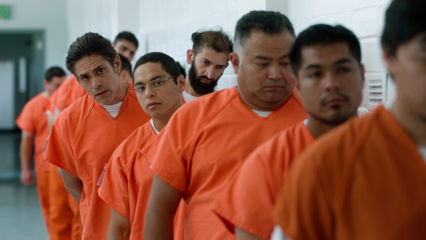 """Manuel Uriza (left) and Maynor Alvarado (wearing glasses) in """"The Infiltrators."""""""